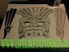 Zapotec Death head and Hecho en Mexico