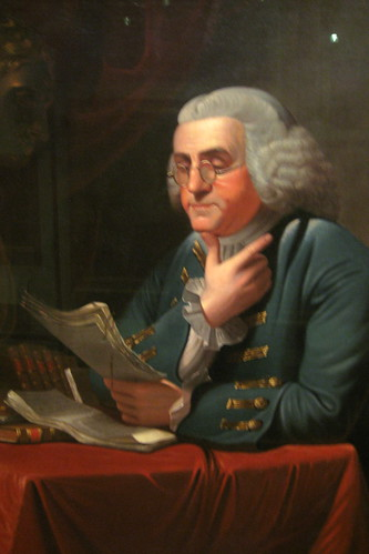 Philadelphia - Old City: Second Bank Portrait Gallery - Benjamin Franklin
