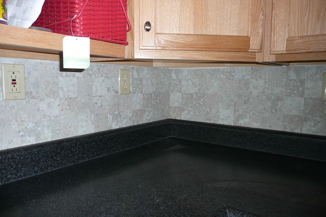Completed Vinyl Tile Backsplash Flickr