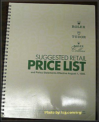 ROLEX LIST PRICE