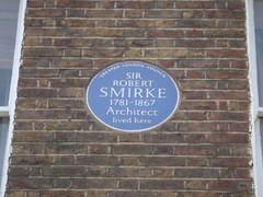 Photo of Robert Smirke blue plaque