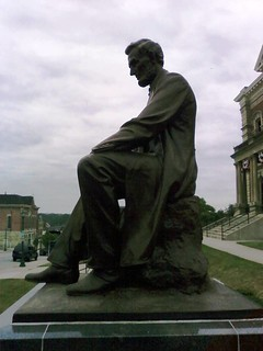 Looking South at The Lincoln Monument of Wabash, Indiana by Charles Keck. Photo taken on August 2, 2008