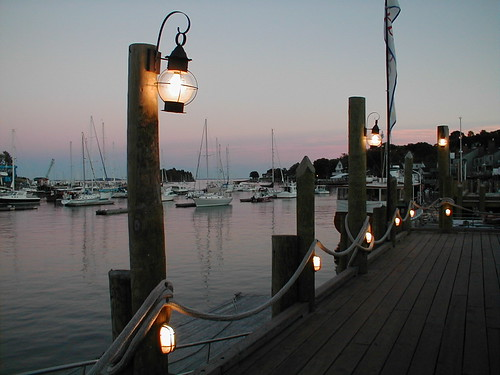 Lantern lights in Camden, Maine