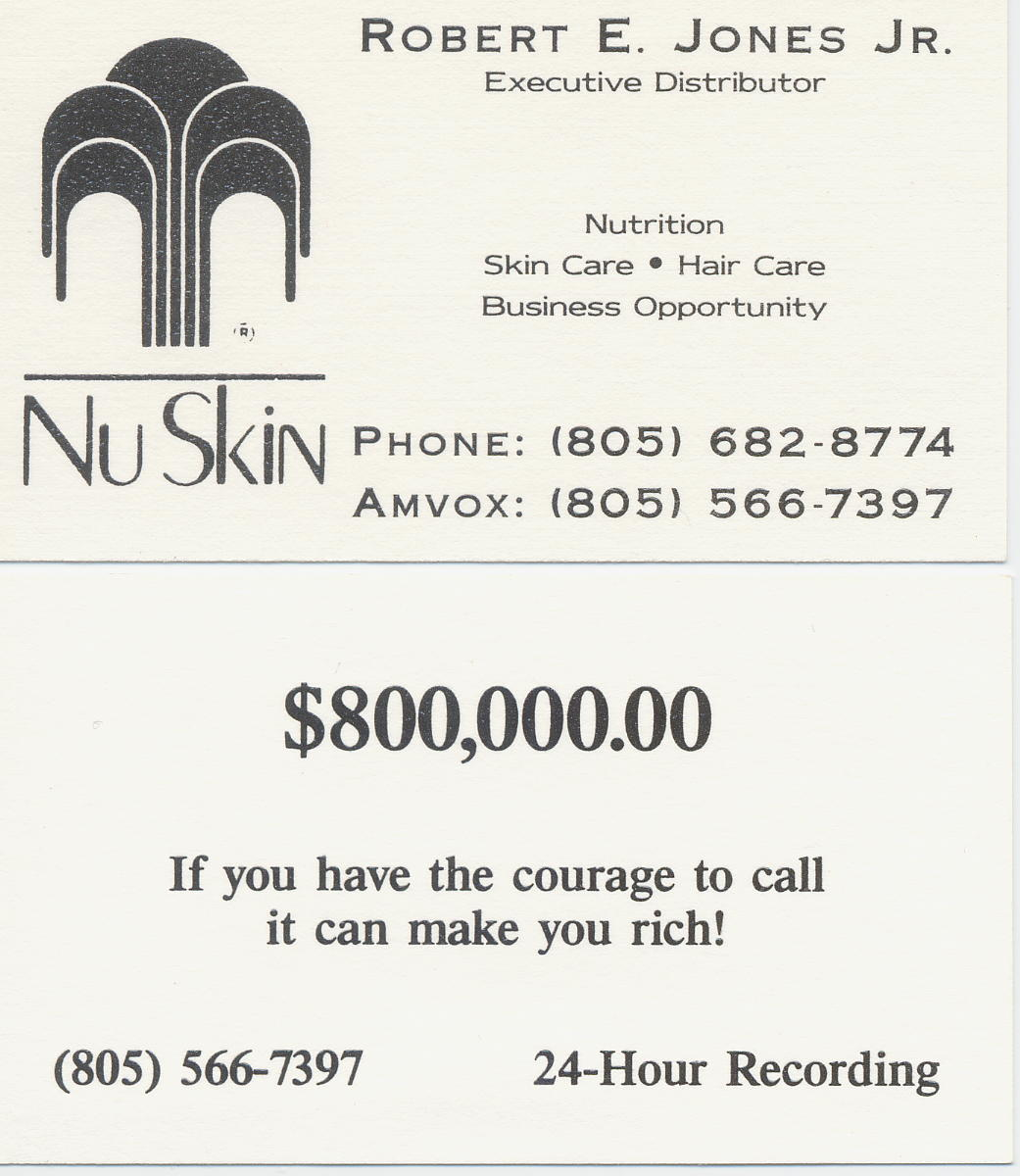 1990 Robert\'s Nu-Skin Business Cards - a photo on Flickriver
