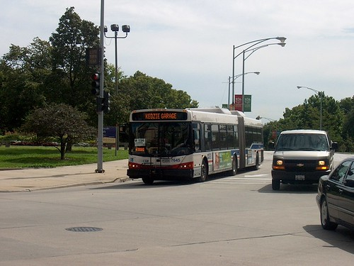 Northbound CTA bus near West Diversey Avenue. Chicago Illinois. September 2006. by Eddie from Chicago