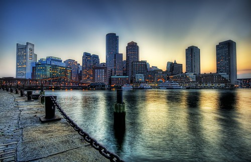 Boston on the Fringe of Sunset
