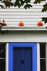 Above the Porch Pumpkins by TPorter2006
