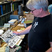 Rick Prelinger at the ephemera sorting table