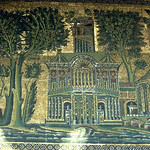 Barada mosaic of the eastern wall of the Umayyad Mosque of Damascus (ca. 706-15)