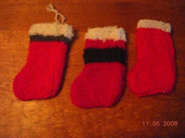 Mini Christmas Stocking Knitting Pattern Easy : Easy knitted mini Christmas stocking Flickr - Photo Sharing!