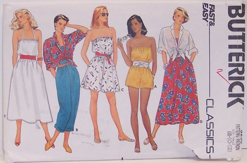 Butterick Pattern 3250 Romper Jumsuit Coverup Dress Blouson Strapless UNCUT Multisized 8 10 12