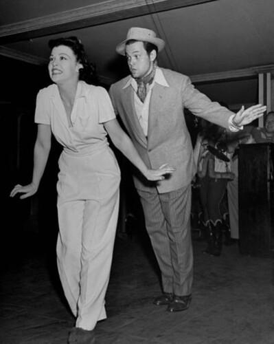 Suzanne Ridgeway y Orson Welles
