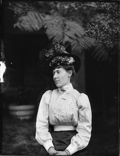 Portrait of woman in Edwardian dress