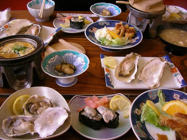 カキづくしコース@桜亭(冬の釧路・厚岸) Kushiro Trip (East Hokkaido)