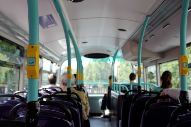 color inside the double decker bus | Flickr - Photo Sharing!
