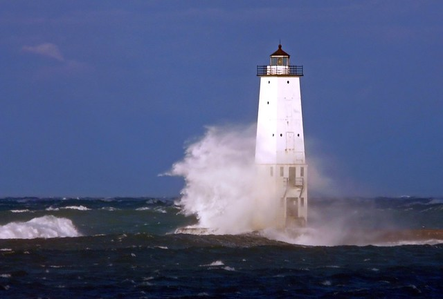 Well-lit Lighthouse