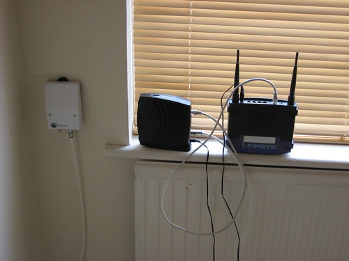 cable modem and wi-fi router