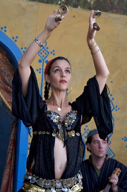 Belly dancer at the Renaissance Faire
