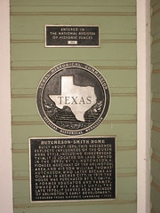 Photo of Isaac Lafayette Hutcheson, William Thomas Hutcheson, S. T. Smith, and Ruth Coulter black plaque