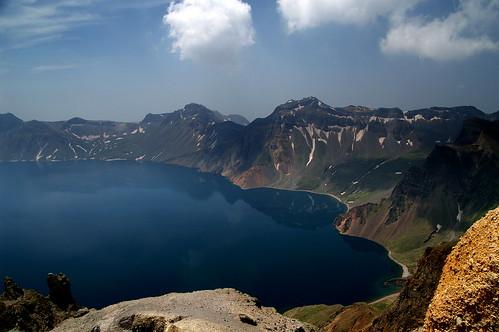 china mountain lake landscape jilin 天池 长白山