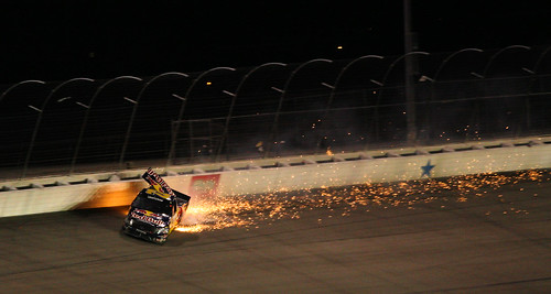 usa race truck fire 22 texas crash tx racing nascar wreck sparks redbull fortworth texasmotorspeedway ncts scottspeed craftsmantruck