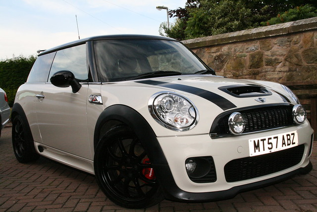 lowered mini cooper s r56 with jcw bodykit flickr photo sharing. Black Bedroom Furniture Sets. Home Design Ideas
