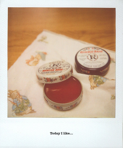Rosebud salve and Peter Rabbit tissue