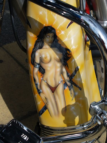 Harley Davidson Custom Painted Lady