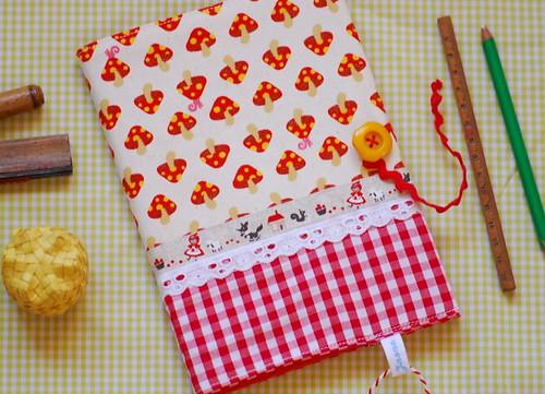 Mushroom notebook cover