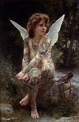 mythology(0.0), woman warrior(0.0), angel(1.0), art(1.0), fairy(1.0), fictional character(1.0),