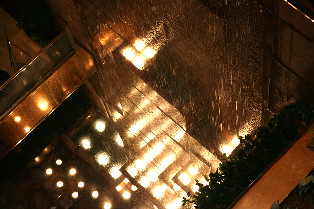 Trump Tower Indoor Waterfall in Public Space