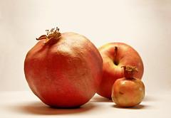 pomegranate, produce, fruit, food, still life photography, apple,