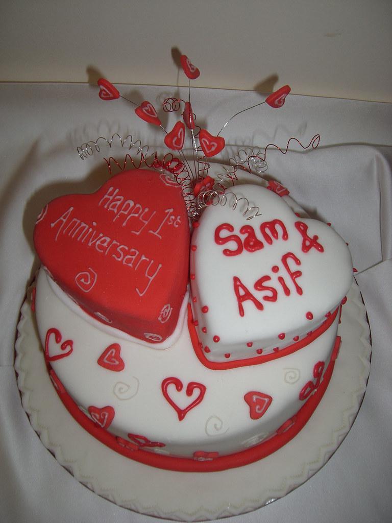 1st Anniversary Cake Andrea Flickr