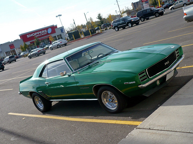 1969 Camaro Frost Green http://www.flickr.com/photos/steve-brandon/2969805755/