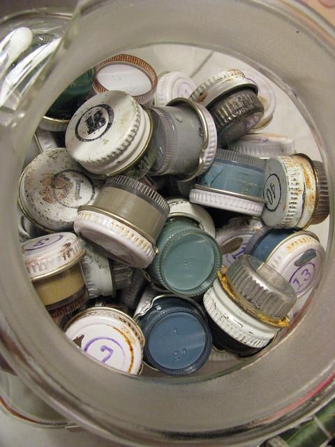 Vintage Paint Pots