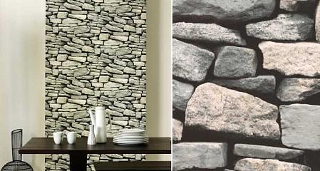 Papel imitacion piedra decorar tu casa es - Paredes imitacion piedra ...
