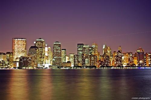 New York Skyline @ NIght - Lower Manhattan