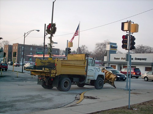 Berwyn Public Works dump truck with snow plow. Berwyn Illinois. January 2008. by Eddie from Chicago
