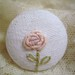 bouillion rose on button