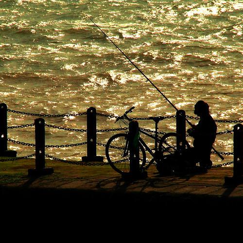 sea man water bike silhouette sussex fishing fisherman brighton jetty valerie angling sigma18200mm outstandingshots canoneos400d november08 holidaysvacanzeurlaub infinestyle pearceval 15challengeswinner theperfectphotographer