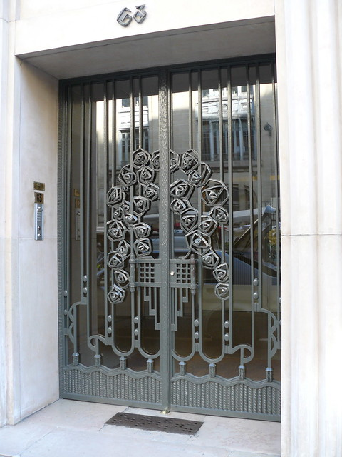 Paris Boulevard Raspail Porte D Immeuble En Fer Forg 233