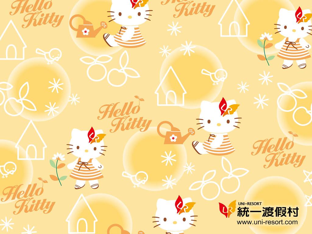 Wallpaper Hello Kitty Uni Resort