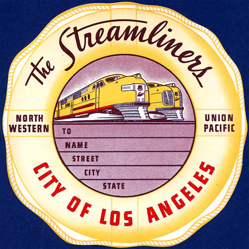 City of Los Angeles Luggage Label