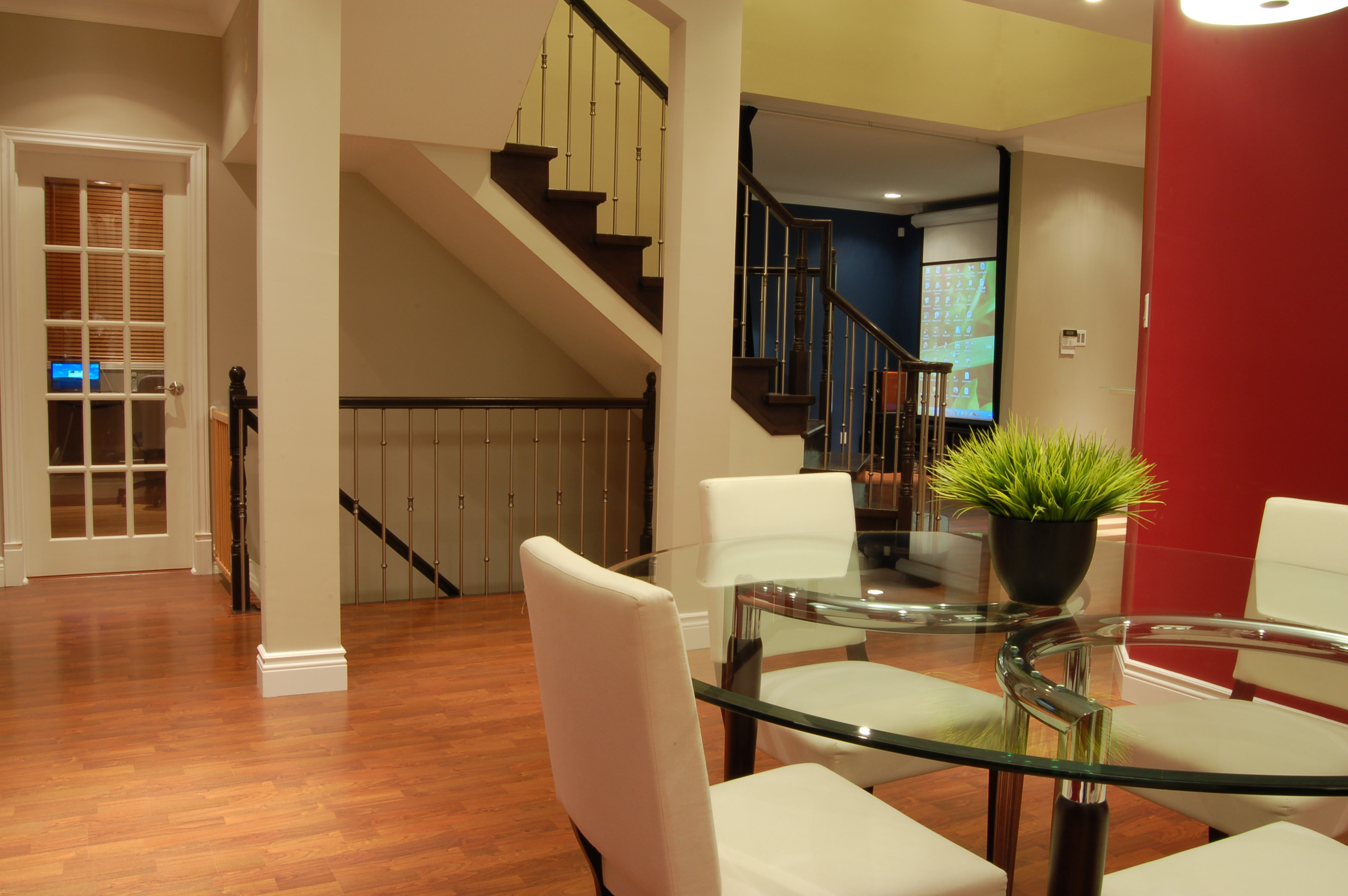 open stairs to basement flickr photo sharing. Black Bedroom Furniture Sets. Home Design Ideas