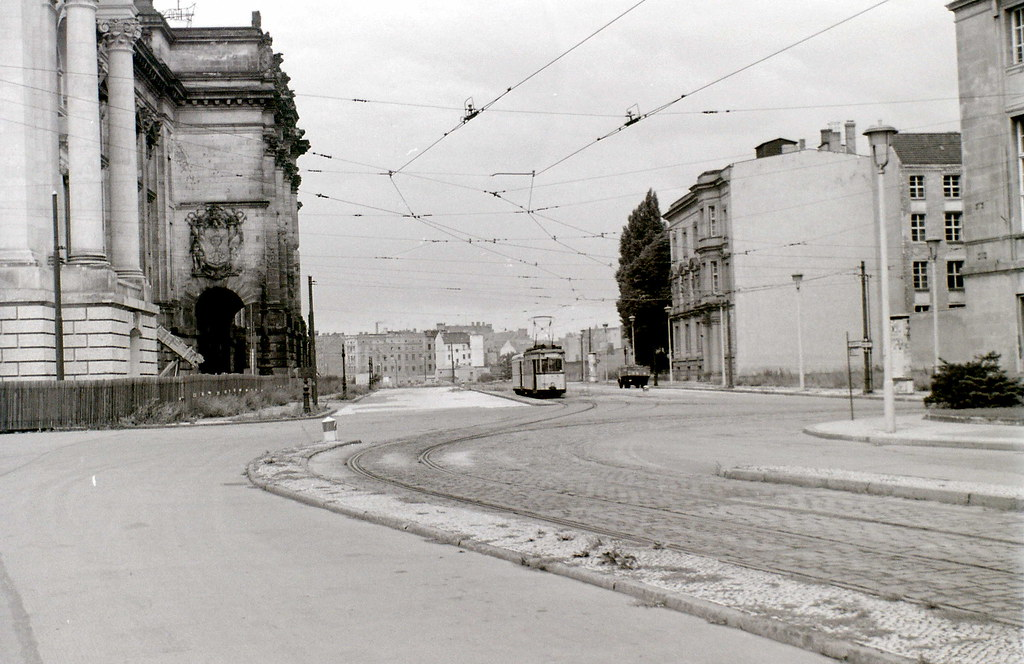 Reichstag and tram, Berlin, 31 July 1960
