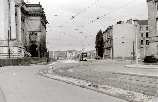 Reichstag and tram, Berlin, c. 31 July 1960