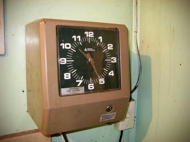 digital clocking in machine