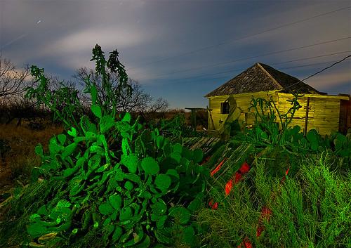 abandoned night town ruins texas desert ghost homestead eskota