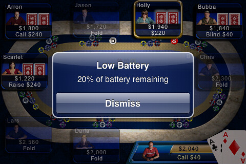 Aces and Low Battery