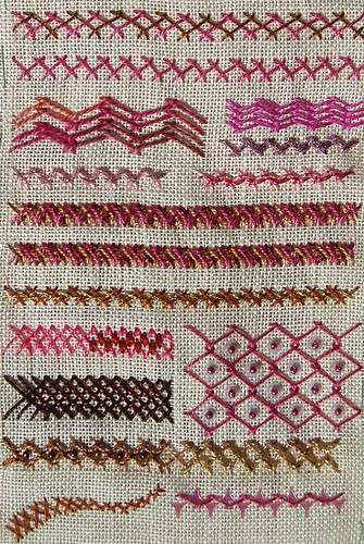 Herringbone sampler